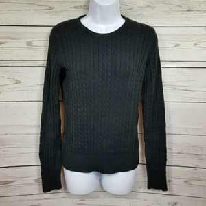 MERONA crew neck pullover black knit sweatshirt